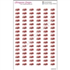 Mini Firetruck Cutout Stickers - Set of 96