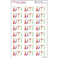 Stocking Diecut Strips - Set 2 - Set of 24