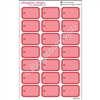 Round Corner Half Box Icons - Red Nurse Set - Set of 21