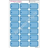 Round Corner Half Box Icons - Blue Medical Set - Set of 21