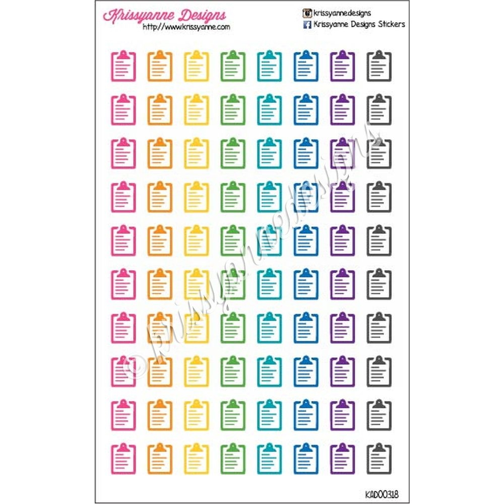 Cutout Icon Clipboard Cutout Stickers - Bold Rainbow - Set ...
