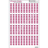 Diecut Separator Strips - Hearts - Set of 44