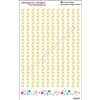 Diecut Sticker Strips - Long Star Strips - Set of 15