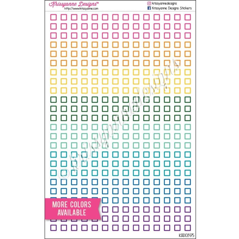 Mini Square Checklist Icons - Bold Colors - Set of 336