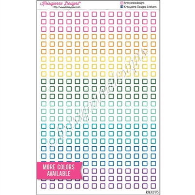 Mini Square Checklist Icons - Bold Colors - Set of 336
