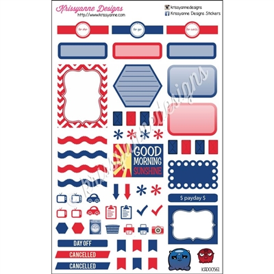 KAD Weekly Planner Set - Navy and Red