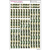 Green Camo Decoration Strips - Set of 30