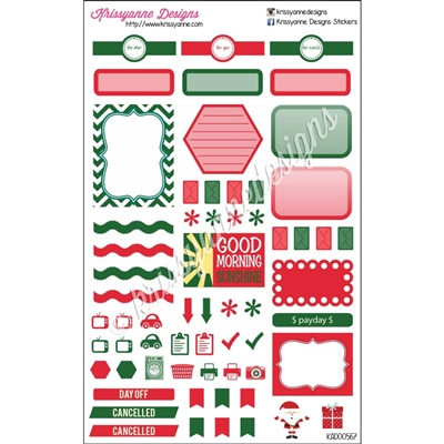 KAD Weekly Planner Set - Red and Green