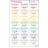 Round Corner Half Box Quotes - Confetti - Set of 21