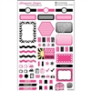 KAD Weekly Planner Set - Black and Hot Pink
