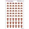 Female Firefighter Cutout Stickers - Set of 54