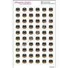 Police Head Cutout Stickers - Set of 60