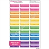 Single Weekly Habit Trackers - Bold Rainbow - Set of 36