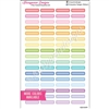 Blank Mini Event Stickers - Pastel Rainbow Overlay - Set of 68