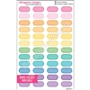 Small Oval Stickers - Rainbow with Overlay - Set of 48