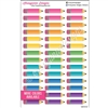 Pencil Event Stickers - Set of 42 - Bold Rainbow