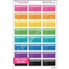 Single Weekly AM/PM Habit Trackers - Bold Rainbow - Set of 24