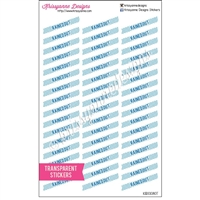 Transparent Diagonal Rained Out Stickers - Set of 48