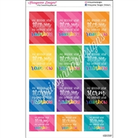 Quote Stickers - Brighter Your Rainbow