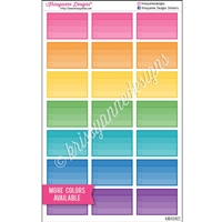 Half Box Checklist with Header - Set of 21