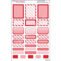 Bold Event Sticker Sampler - Red - Set of 29