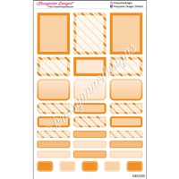 Bold Event Sticker Sampler - Orange - Set of 29
