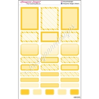 Bold Event Sticker Sampler - Yellow - Set of 29