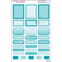 Bold Event Sticker Sampler - Turquoise - Set of 29