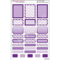 Bold Event Sticker Sampler - Purple - Set of 29