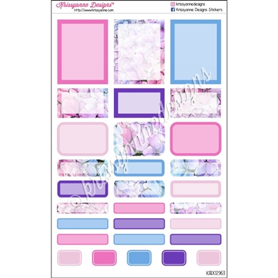 Event Sticker Sampler - Pink and Purple Floral - Set of 29