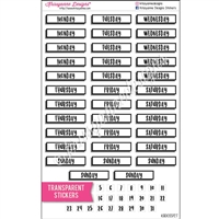 Transparent BuJo Date Labels