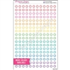 Mini Circle Outline Stickers - Set of 216