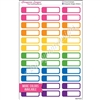 Color Block Event Stickers - Set of 36