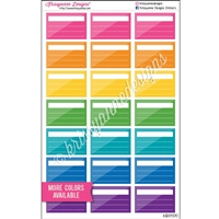 Half Box Stickers - Two Tone Checklist - Set of 21