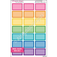 Square Corner Half Box with Overlay - Set of 21