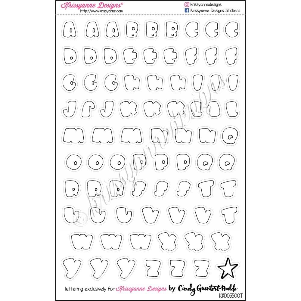 Transparent Bubble Letters Outline