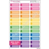 Reminder Color Block Event Stickers - Set of 36