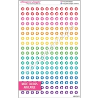 Mini Circle Stickers - Asterisks - Set of 216