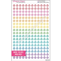 Mini Circle Stickers - Doodle Hearts - Set of 216