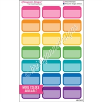 Round Corner Color Block Half Box - Set of 21