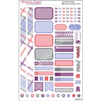KAD Personal Weekly Planner Set - January Plaid