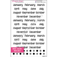 Months of the Year Shadow Script Sampler - Set of 56