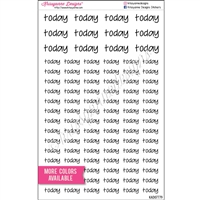 Today Script Set - Set of 96