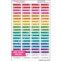Customized Solid Dotted Checklist Mini Event - Set of 80