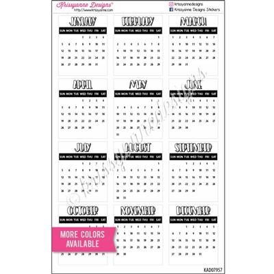 Small Monthly Calendars - 2021