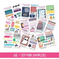 Q3 2018 Mini Samplers - July thru September