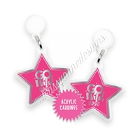 Acrylic Earrings - GW2020 Logo Star