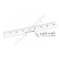Rainbow Ombre Acrylic Dot Grid Ruler