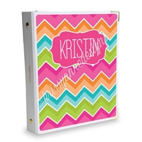 Signature KAD Sticker Binder - Bright Chevron