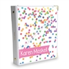 Signature KAD Sticker Binder - Rainbow Confetti